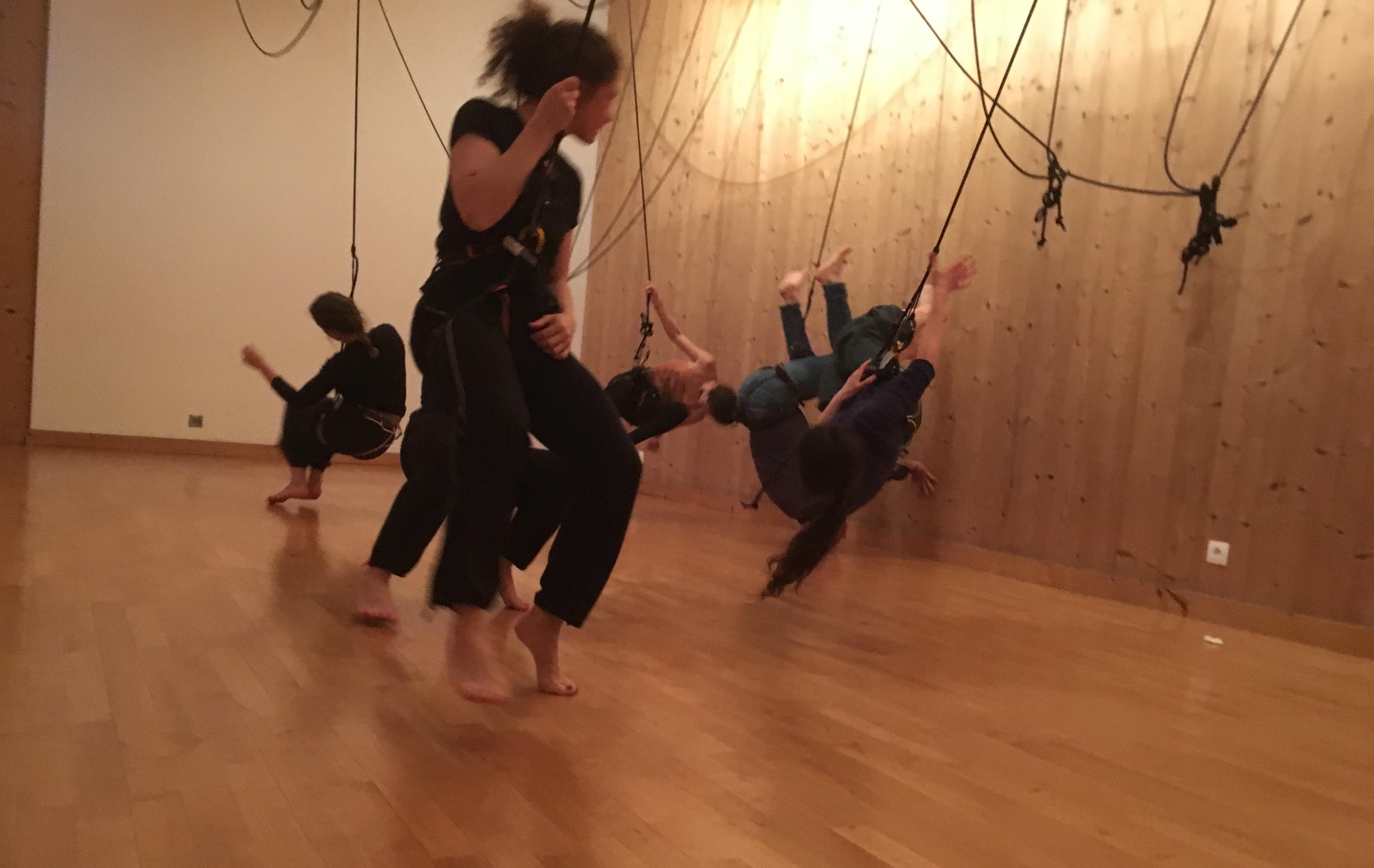 danse verticale découverte stage contemporaine escalade cirque stars arts de la rue espace publique retouramont compagnie fabrice guillot paris charenton